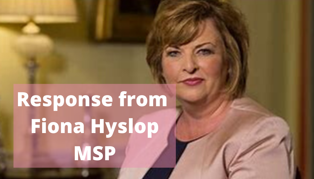 Fiona Hyslop MSP, Cabinet Secretary for Economy, Fair Work and Culture.